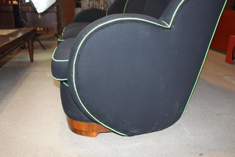 Art Deco Upholstered Sofa For Sale 1