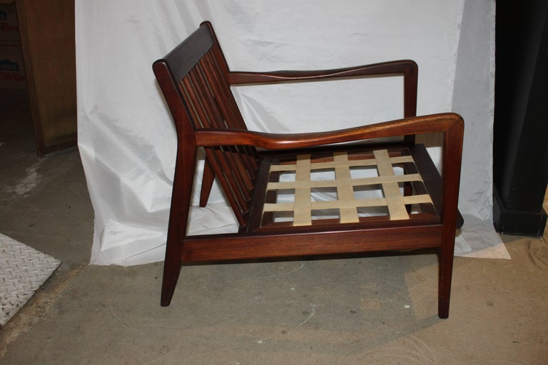 Mid-Century Modern Danish Walnut Lounge Chair 5