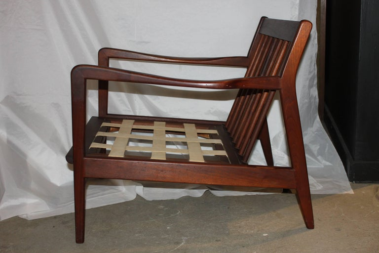 Mid-Century Modern Danish Walnut Lounge Chair 7