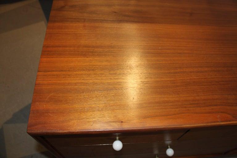 20th Century Kipp Stewart Walnut Eight-Drawer Dresser For Sale