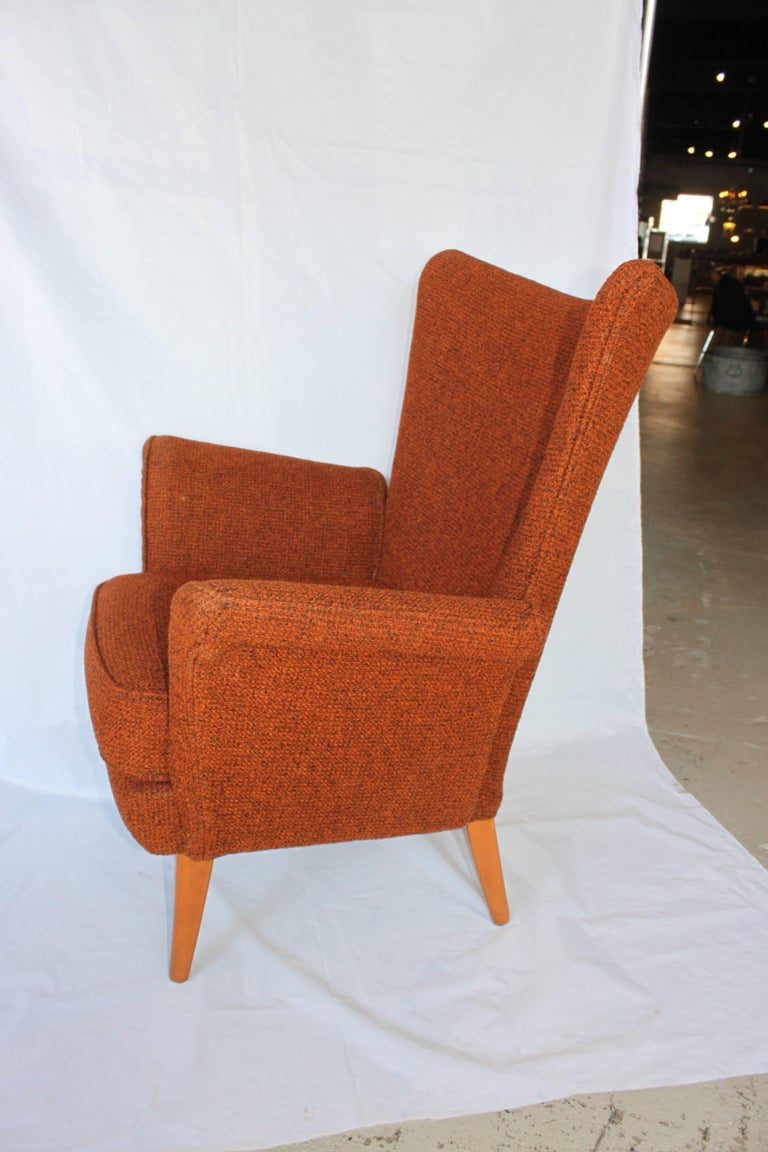 Mid century modern high back armchair for sale at 1stdibs for Mid century modern armchairs