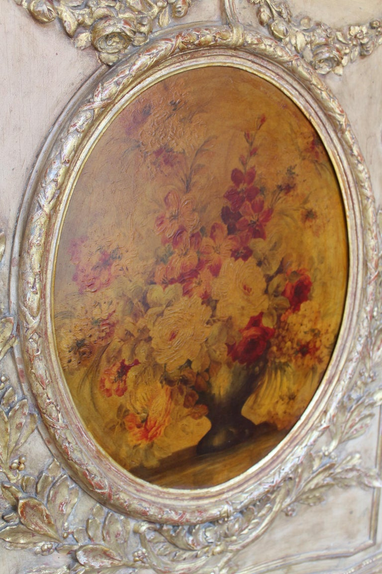 Beveled French 19th Century Trumeau Mirror For Sale