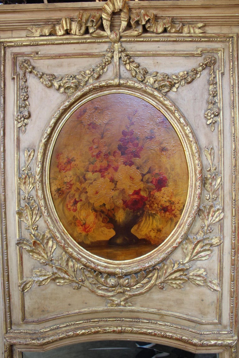 French 19th Century Trumeau Mirror For Sale 13