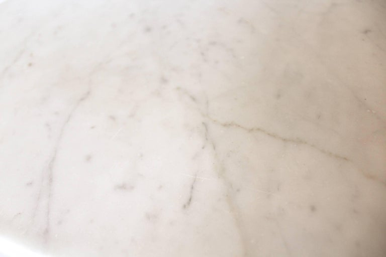 19th Century French Louis XVI Style Carrara Marble Mantel For Sale 6