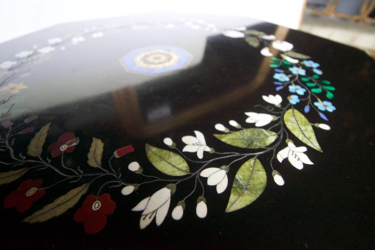 Other 19th Century Italian Pietra Dura and Cast Iron Gueridon For Sale