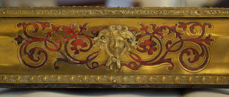 Napoleon III Period Boulle Inkwell with Tortoise Shell Inlay In Good Condition For Sale In Charleston, SC
