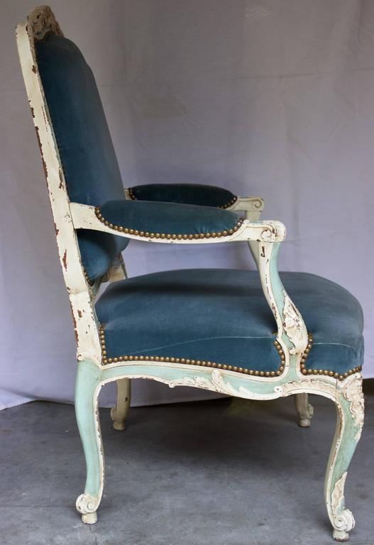 French 19th Century Louis Xv Style Fauteuil At 1stdibs