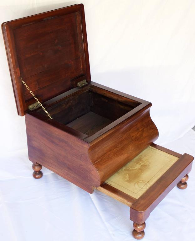 19th Century Bedside Commode With Retractable Wooden Step
