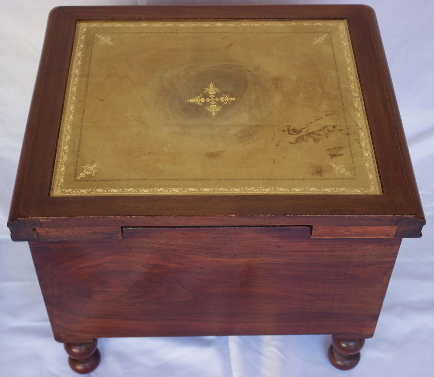 Bedside Commode With Retractable Wooden Step Stool For Sale At 1stdibs. Full resolution  snapshot, nominally Width 1500 Height 1302 pixels, snapshot with #8D6E3E.