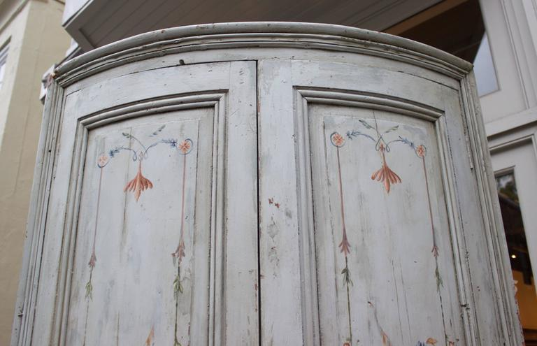 19th Century French Painted Corner Cabinet For Sale 2