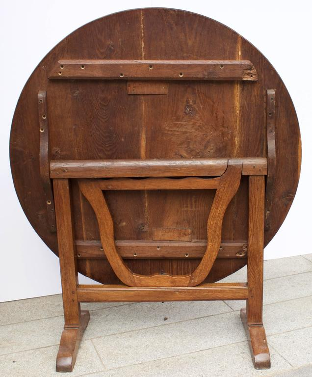 Restauration Early 19th Century French Lyre Base Wine Table For Sale