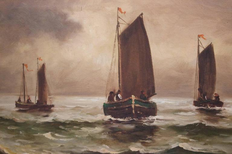 Hand-Painted 19th Century Dutch Oil Painting