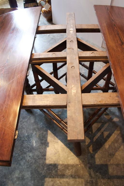 19th Century French Near Round Table with Bamboo Style Feet 3
