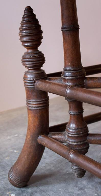 19th Century French Near Round Table with Bamboo Style Feet 6