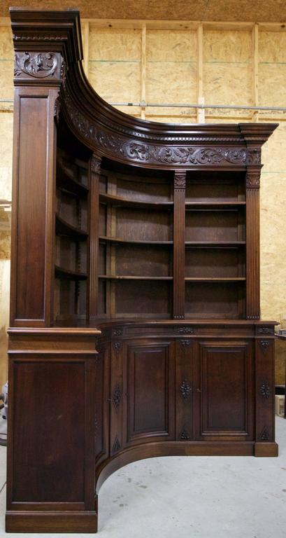 End of 19th Century French Walnut Corner Library 2