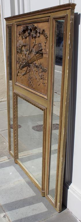 18th Century French Louis XVI Period Mantel Trumeau Mirror