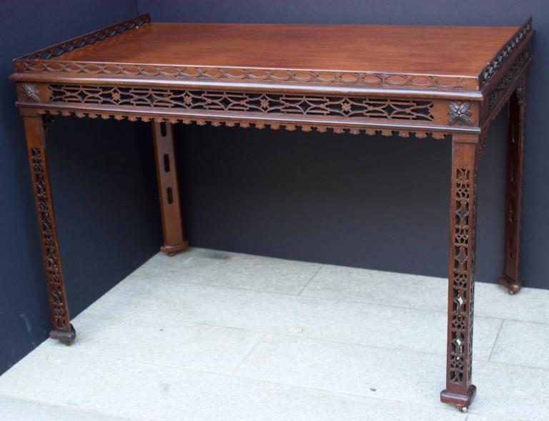 19th Century Chinese Chippendale St. Mahogany Table 2