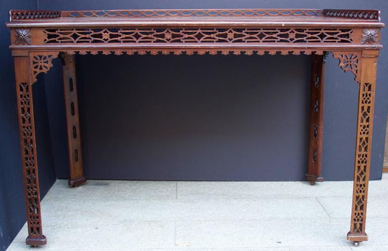 19th Century Chinese Chippendale St. Mahogany Table 3