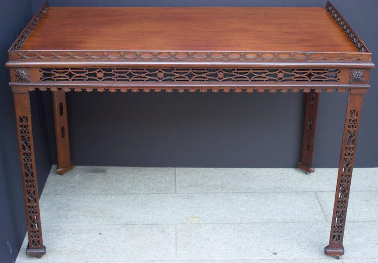 19th Century Chinese Chippendale St. Mahogany Table 4
