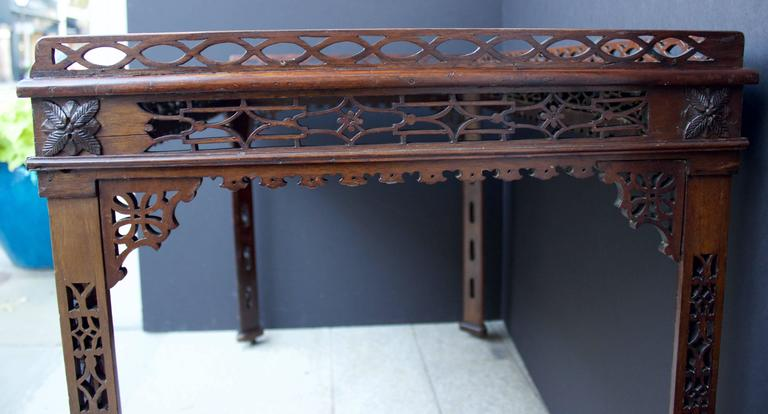19th Century Chinese Chippendale St. Mahogany Table 6