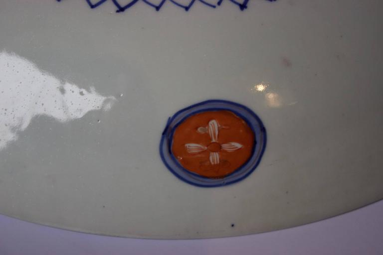 19th Century Large Imari Porcelain Charger 7
