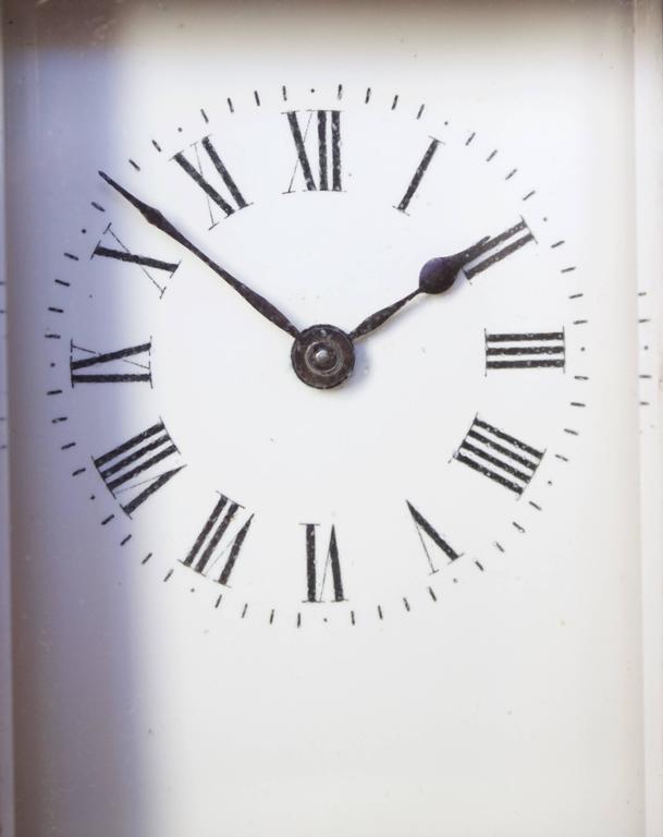 Antique French Art Nouveau Gilt Bronze Carriage Clock 10