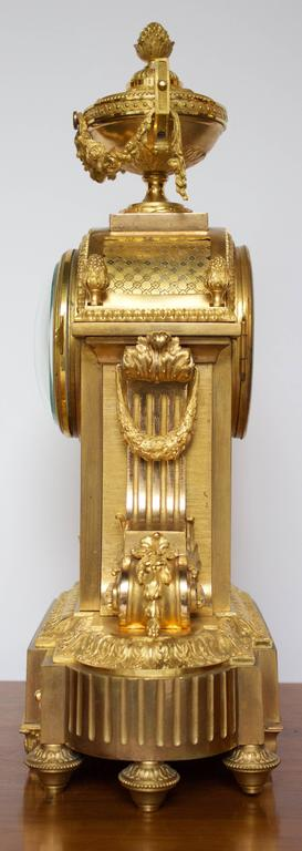 French Napoleon III Period Mantel Clock in Dore Bronze 3