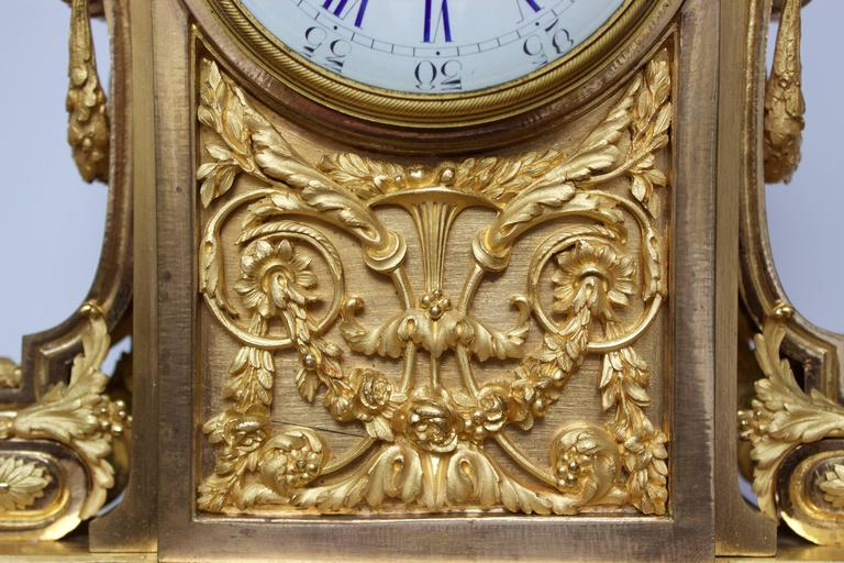 French Napoleon III Period Mantel Clock in Dore Bronze 9