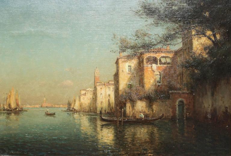 Gondoles on a Venice Canal by G.N. Bouvard 2