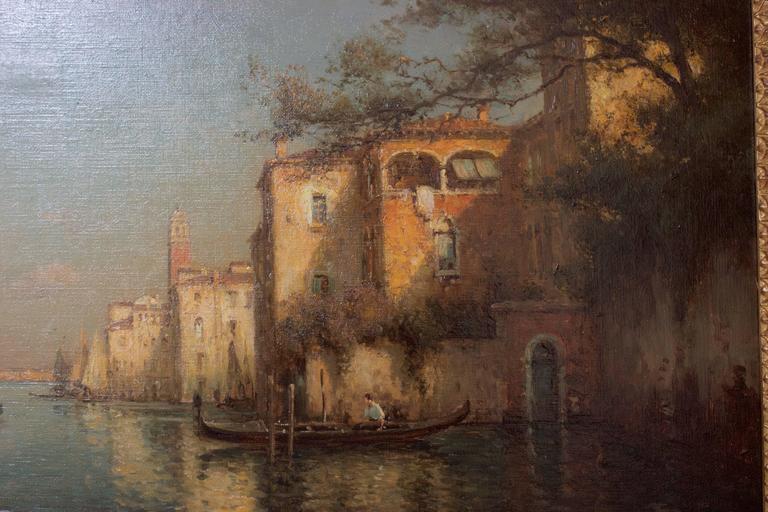 Gondoles on a Venice Canal by G.N. Bouvard 3