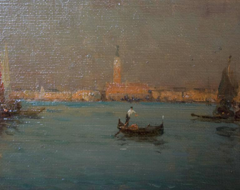 Gondoles on a Venice Canal by G.N. Bouvard 4