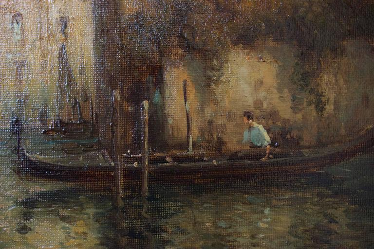Gondoles on a Venice Canal by G.N. Bouvard 5