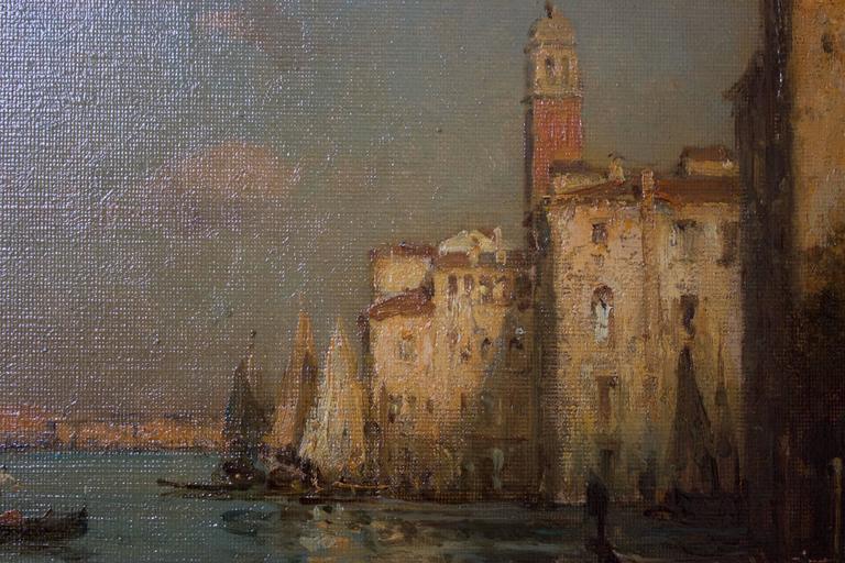Gondoles on a Venice Canal by G.N. Bouvard 7