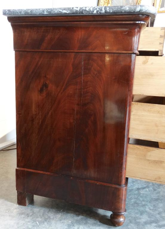 French Louis Philippe Period Commode in Flamed Mahogany 5