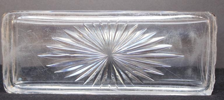 French 19th Century Crystal Box with .950 Silver Lid 3