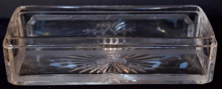 French 19th Century Crystal Box with .950 Silver Lid 5