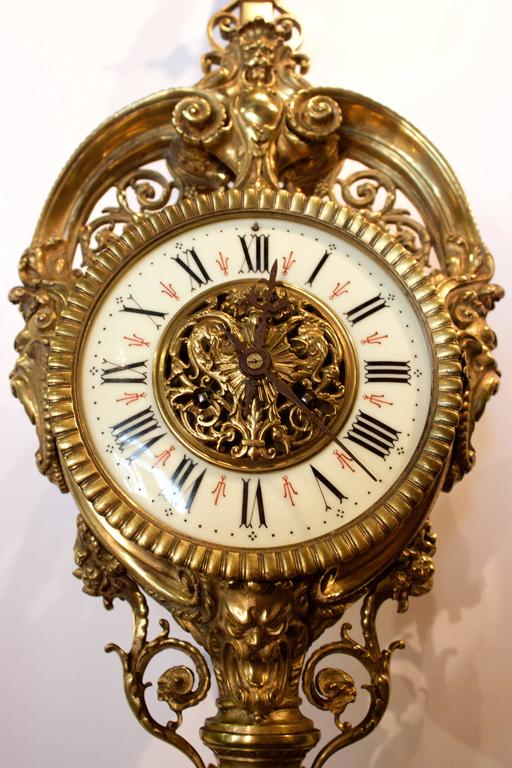 19th Century French Cartel or Wall Clock 4