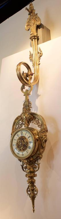 19th Century French Cartel or Wall Clock 2