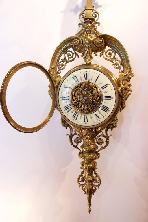 19th Century French Cartel or Wall Clock 3