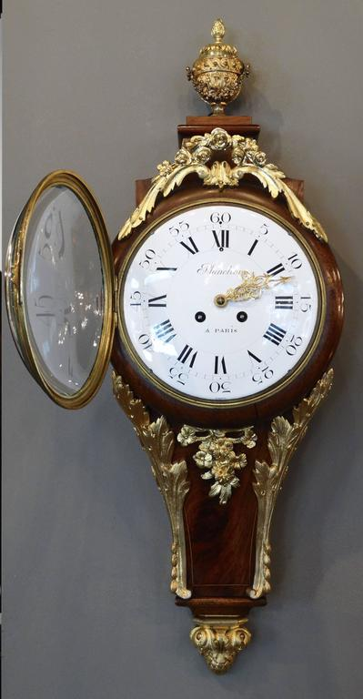 Superb 19th Century French Wall Clock in Louis XV St. In Excellent Condition For Sale In Charleston, SC