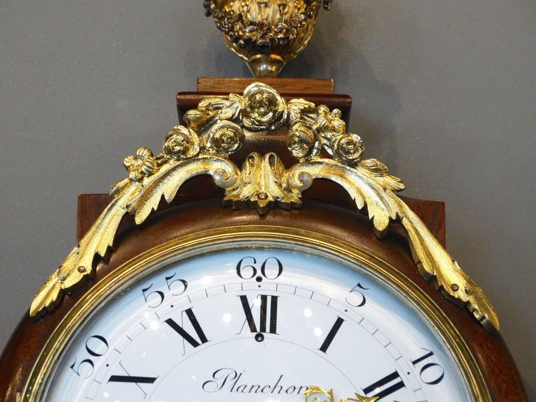 Bronze Superb 19th Century French Wall Clock in Louis XV St. For Sale