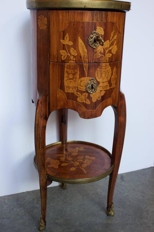"18th Century French ""Tambour"" Shaped Side Table 2"