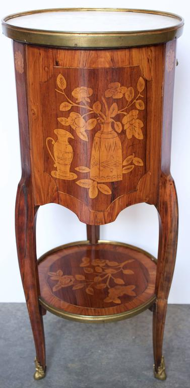 "18th Century French ""Tambour"" Shaped Side Table 3"