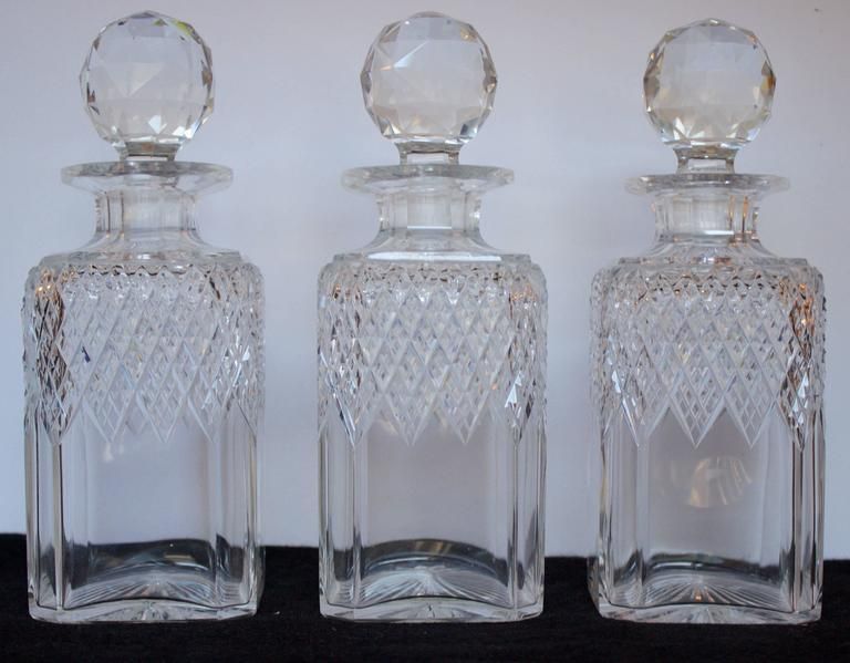 Victorian 19th Century English Tantalus Decanters Stamped by Makers For Sale