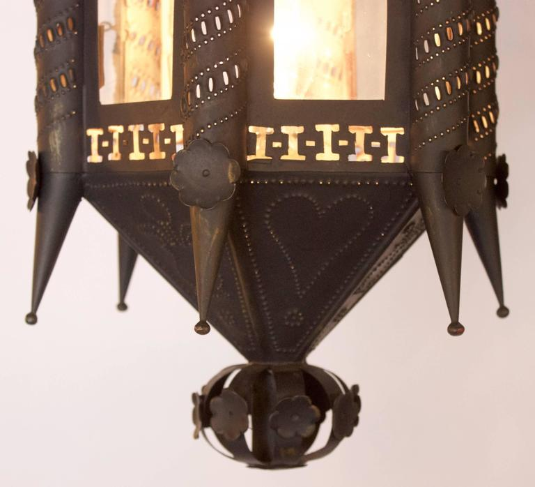 Pair of Andalusian 19th Century Lantern Fixtures 4