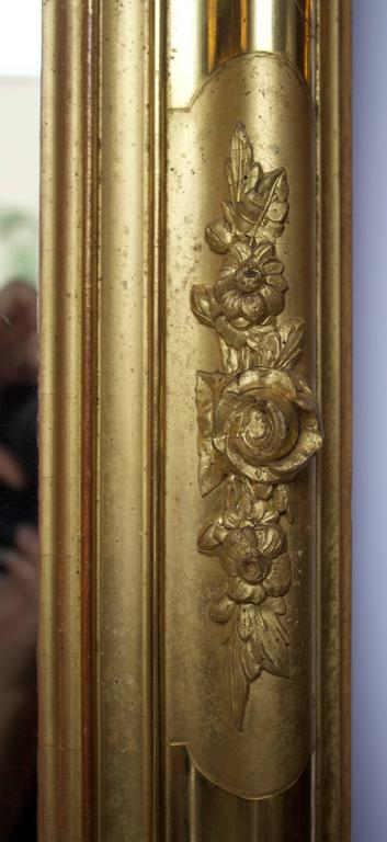 Mercury Glass Early 19th Century French Giltwood Mirror For Sale