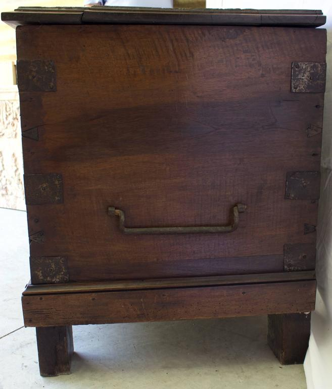 French First Renaissance Walnut Carved Wedding Chest For