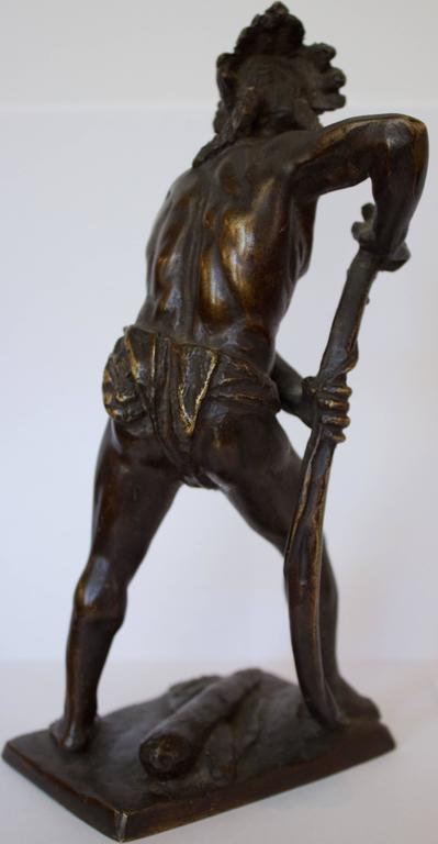 French, 19th Century Bronze Sculpture of American Indian Chief 6