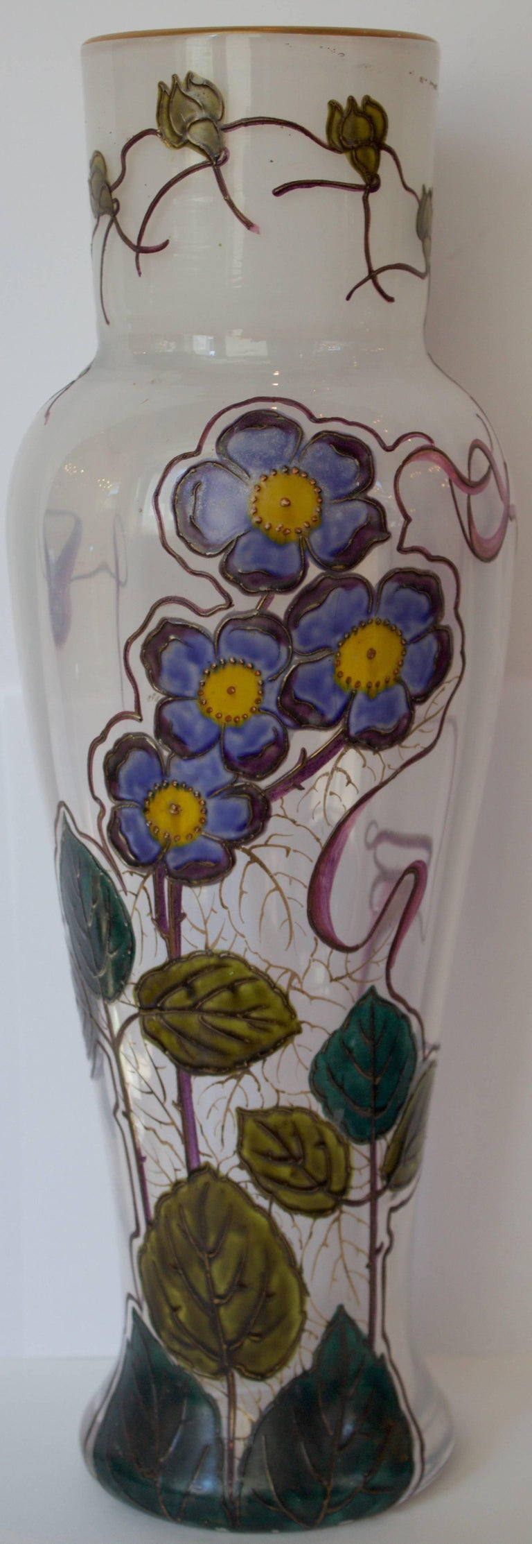 "French 19th Century Glass Vase by Legras Signed "" Montjoye L&Cie"" 2"