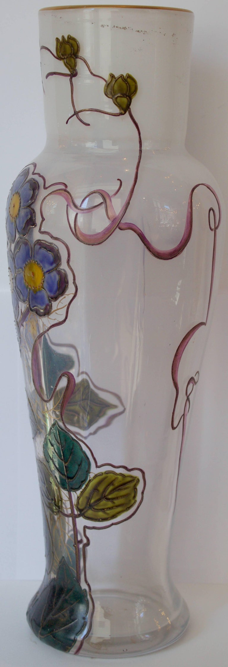 "French 19th Century Glass Vase by Legras Signed "" Montjoye L&Cie"" 3"